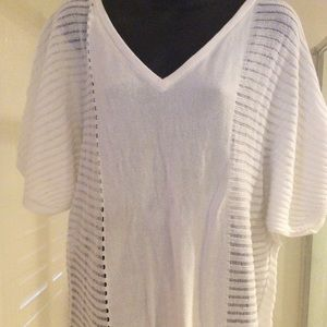 White Dolman Mossimo Sweater Size Large